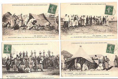 Lot 4 Cpa Maroc Martimprey Evenements De La Frontiere / Morocco