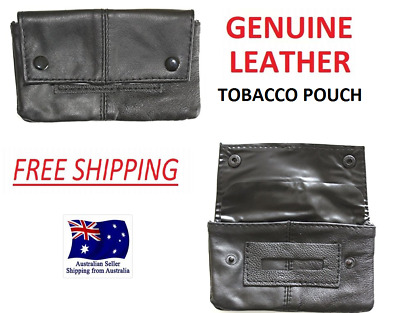 1St Grade Nappa Soft Leather Tobacco Pouch Smoke Cigarette Case  Filters Papers