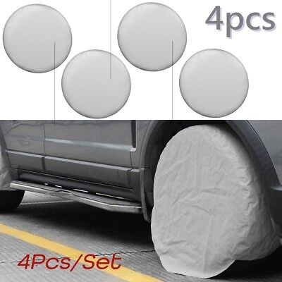 4x 27 Inch Car Wheel Tire Tyre Covers Oxford Cloth For RV Trailer Camper Truck