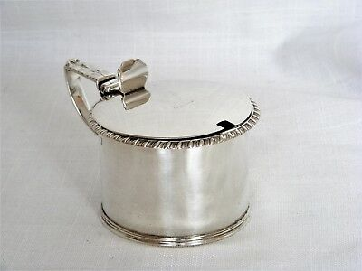 Quality, Georgian, Solid Silver Drum Mustard – London 1819