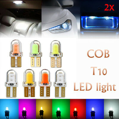 2/10x T10 194 168 W5W COB 8 SMD CANBUS Silicone LED Turn Side License Light Bulb