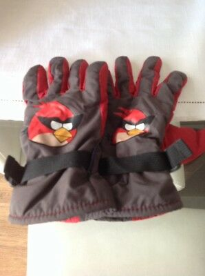 Boys Winter Gloves Age 14-16 Thinsulate angry birds gloves