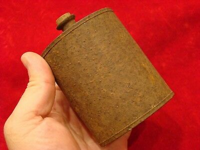 Civil War Period Tin Storage Can With Cork Stopper. Unknown Purpose.