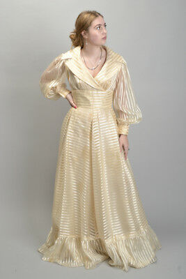 Ladies' 1970s' Susan Small size 14 English Made Evening Dress Gown. Ref IGP