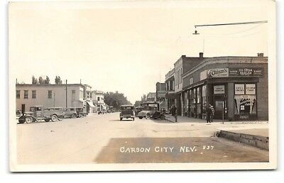 Nevada-Carson City-Real Photo-Chism's Ice Cream-Parlor-Duk-In-Town-Postcard
