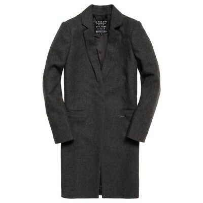 Superdry Atelier Tailored Dark Charcoal Marl , Abrigos y parkas Superdry , moda