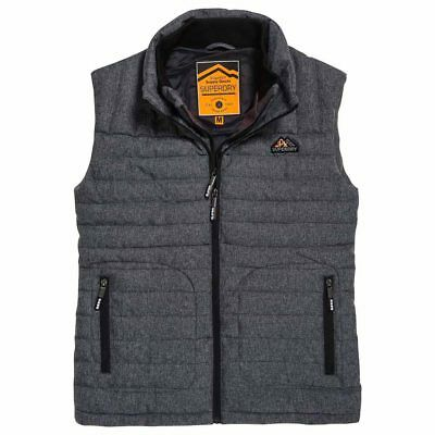 d599a68c1d7c SUPERDRY DOUBLE ZIP Tweed Fuji Vest Black Tweed