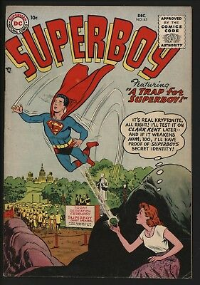 Superboy #45 Very Scarce Issue Dec 1955 Nice Bright Cents Copy Nice Pages Too