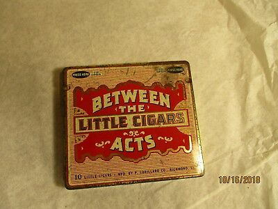 """Small vintage cigar tin """"Between the Acts"""""""