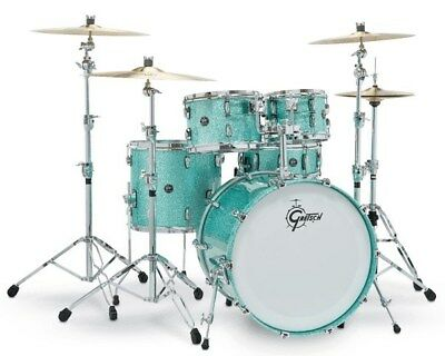 Gretsch RN2-J483 Renown Maple 3 Piece Shell Pack, Turquoise Sparkle