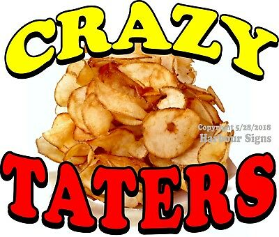 Crazy Taters DECAL (Choose Your Size) Concession Food Truck Vinyl Sign Sticker