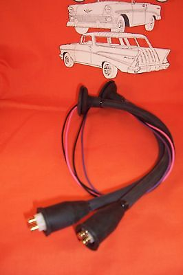1955 1956 1957 chevy tail lamp plug pigtails new pair usa made rh picclick com 2000 F350 Tail Light Wiring Dodge Truck Tail Light Wiring