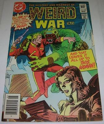 WEIRD WAR TALES #123 (DC Comics 1983) RARE 2ND TO LAST ISSUE (FN/VF) Kubert cvr