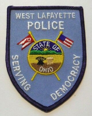 Old West Lafayette Ohio Police Patch Unused