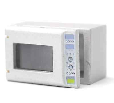 """1/12 Scale Dolls House Small """"silver"""" Grey Microwave Oven"""