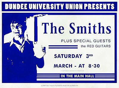 "The Smiths Dundee University 16"" x 12"" Repro Promo  Poster"