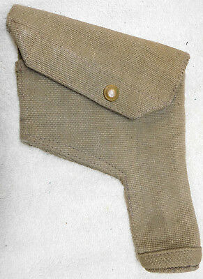 British Mk. VI Khaki Canvas Holster w/ Cleaning Rod-1941