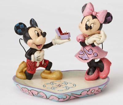 Jim Shore Disney A Magical Moment Mickey Proposing to Minnie Figurine 4055436