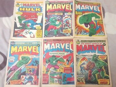 Mighty World of Marvel Weekly Comics Marvel UK 24,28,31,33,35,38.