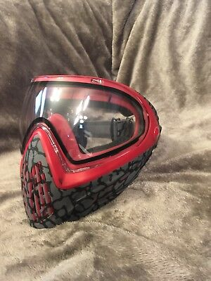 Dye i4 mask Paintball Airsoft Grey And Red Animal Print