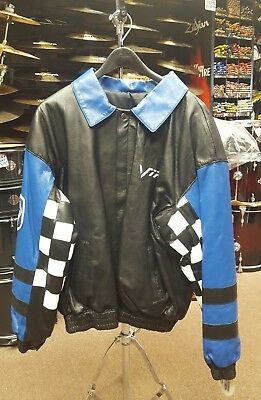 New Old Stock Dodge Viper Genuine blue/ black Leather XL Jacket -Wow!