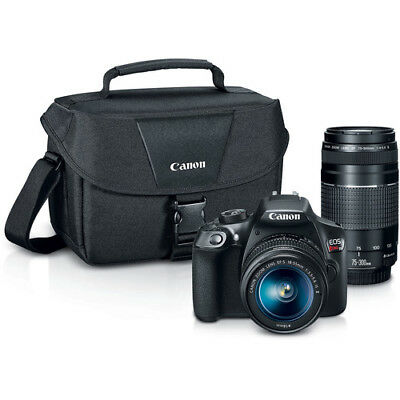 BRAND NEW Canon EOS Rebel T6 DSLR Camera with 18-55mm and 75-300mm Lenses Kit