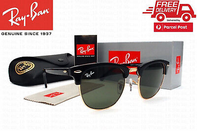 3a805d3333 Ray-Ban RB3016 Clubmaster Classic Black Frame Green Classic G-15 Lenses 51mm
