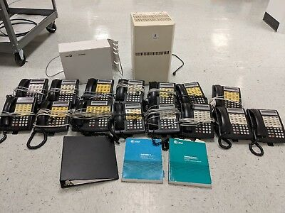 Lucent Phone System (15 Phones, Phone System, Voicemail, and User Manuals)