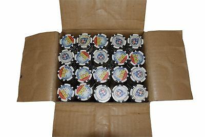 """1000 Poker Black """"100"""" Chips Thunderbird Clay Composite 11.5 gr GREAT DEAL *"""