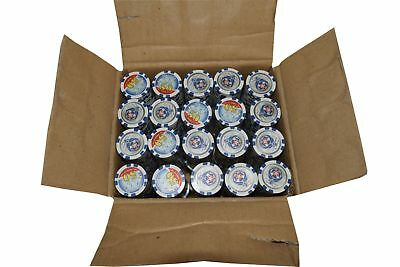 """1000 Poker Blue """"50"""" Chips Thunderbird Clay Composite 11.5 gr GREAT DEAL *"""