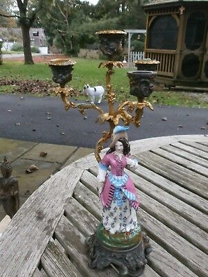 Vintage/antique Porcelain/ceramic Victorian Figural Candle Holder
