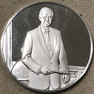 George Herbert Walker Bush Sterling Silver Presidential Medallion