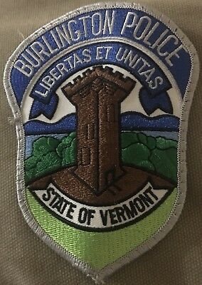 Burlington Vermont Police Department Patch Unused