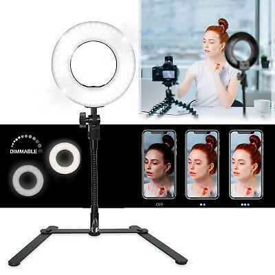 Lusana Studio Dimmable Ring Light with Light Weight Tripod Vlogger YouTuber