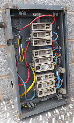Metal Enclosure With 12x 500V 30A Fuse Holders Electric Three Phase