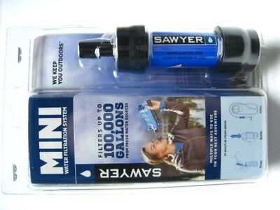 Sawyer SP128 Blue Portable Mini Water Filter Filtration System w/ 16 Oz. Pouch