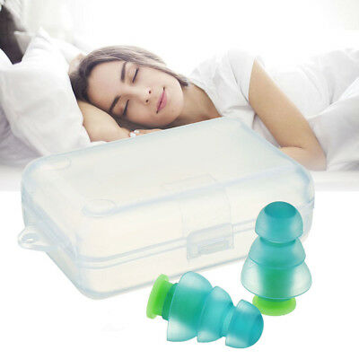 Noise Cancelling Ear Plugs+Box for Sleeping Concert Musician Hearing Protection