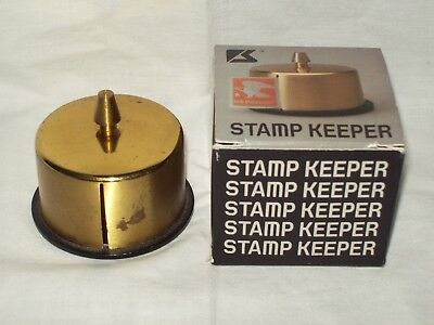 Solid Brass Stamp Keeper in Original Box - Park Sherman - #320