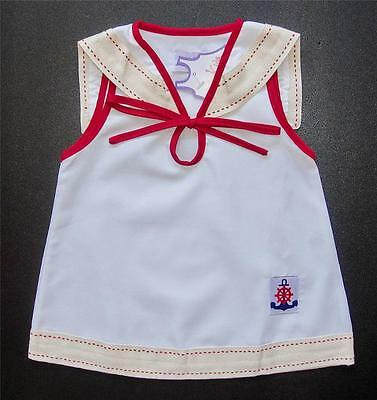 BABY GIRL DRESS Casual or Party Wear Baby Clothing White Cream Red Cotton Dress