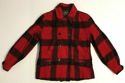 Vintage 1950's White Stag Westwools Red/Black Plaid Woman's Hunting Jacket