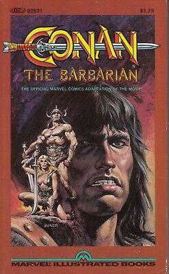 CONAN The Movie (1982) Marvel Illustrated Books B&W paperback 1st FINE+