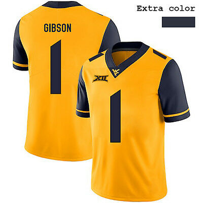 Shelton Gibson  1 West Virginia Mountaineers Jersey NCAA College Football  Men s be31b9264