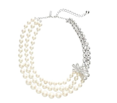 NWT KATE SPADE Pearly Glow Statement Necklace w/ Dust Bag $328 New Free Shipping