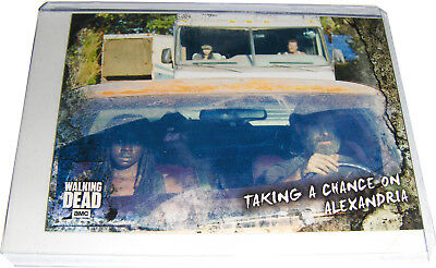WALKING DEAD ROAD TO ALEXANDRIA Card 77 Taking A Chance On Alexandria NM