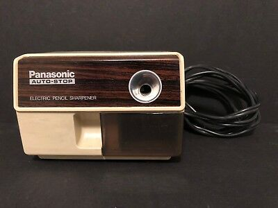 Vintage Panasonic Auto-Stop Electric Pencil Sharpener Model KP-110 - Works Great