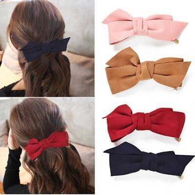 Fashion Women Girls Bow Big Bowknot Hair Clip Headwear Barrette Hair Accessories