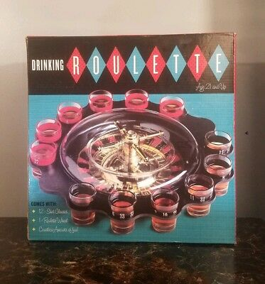 *Casino* -Shot Glass- Roulette Drinking Game w/16 Glasses Fun Friend Party Time!