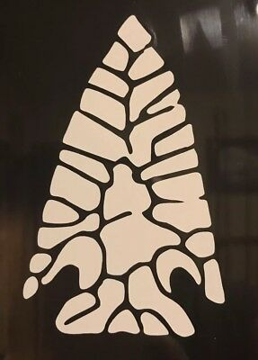 "Native American Arrowhead Vinyl Decal 2.5""x4"" Arrow Head Sticker"
