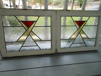 P-488 Lovely Older Leaded Stained Glass Window From England 2 Available