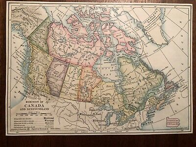 """Vintage Color CANADA and PROVINCES  Print Plate 5.5"""" x 8"""" Unframed"""